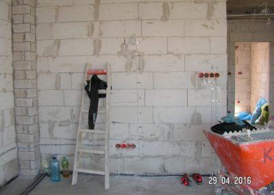 Instalacja elektryczna salonu - gniazda i wyłączniki